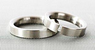 argollas de matrimonio de acero