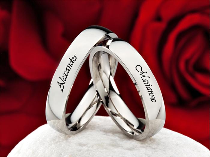 Anillos De Matrimonio Grabados