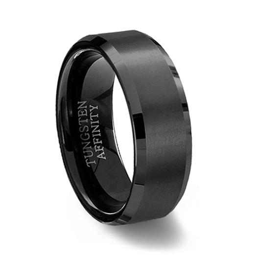 anillos de matrimonio pulidos y cepillados