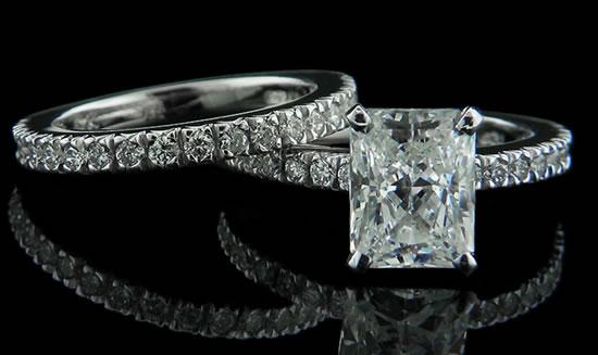 anillos de matrimonio de oro blanco