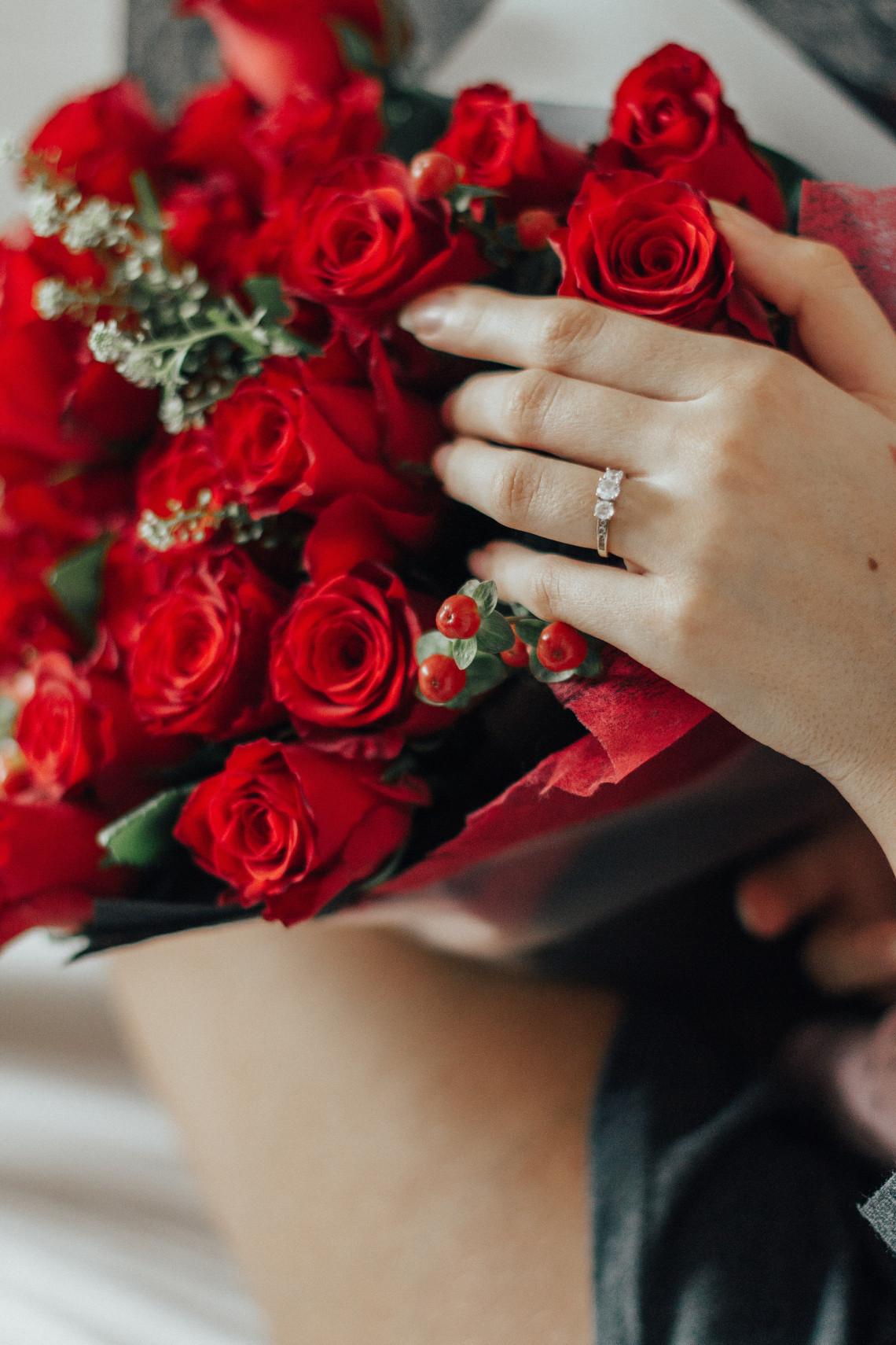 ¿Qué dedo para anillos de compromiso izquierdo o derecho?